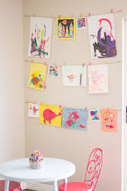 Great Idea Of How To Display Kids Artwork Using Twine And Minipegs Ive
