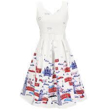 popular sleeveless knee length vintage retro dress buy cheap