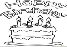 Happy Colors Psychology Color The Birthday Cake Coloring Page