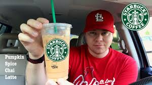Mcdonalds Small Pumpkin Spice Latte Calories by Starbucks Pumpkin Spice Iced Chai Latte With Nutrition Information