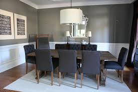 elegant dining room design with dark blue tufted dining room chair