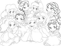 Baby Princess Coloring Pages Pretty Easy Belle