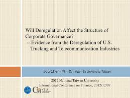 100 Trucking Deregulation PPT I Ju Chen Yuan Ze University Taiwan