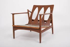 Kofod Larsen Selig Lounge Chair by Ib Kofod Larsen Reclining Lounge Chair With Cut Out Detail For