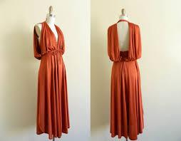 RESERVED Vintage 1970s Disco Dress Backless By WhiteGloveVintage 5000