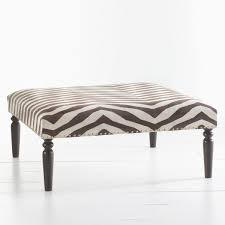 Instead Of A Coffee Table W8362 Kilim Ottoman Zebra IS Kilim