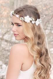 Bridal Hair Acessories Cherry Blossom Flower Crown Wedding Headpiece Woodland Rustic