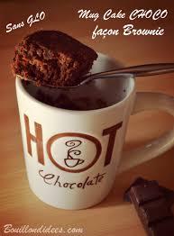 cuisine sans lait mug cake façon brownie sans glo gluten lait blanc d oeuf