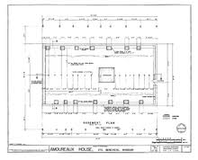 Measured Drawing Showing Basement Plan And Structural Foundations Of The Amoureaux House In Ste Genevieve Missouri