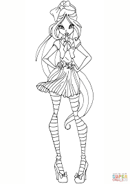 Download Coloring Pages Winx Club Games Flora School Page Free