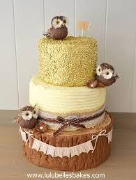 Rustic Owl And Log Cake
