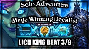 mage vs lich king winning decklist knights of the frozen