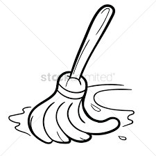 1300x1300 Cleaning Mop Vector Image