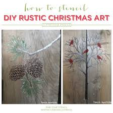 Cutting Edge Stencils Shares Easy DIY Stenciled Pallet Art With The Holiday And Acrylic Craft