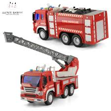 100 Fire Trucks Toys Diecast 2PCS Diecast Truck Construction Emergency
