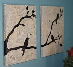 Wall Art With Newspaper Newpaper Crafts