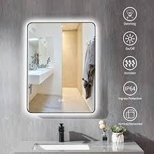badspiegel mit beleuchtung 50 x 70 cm led badezimmerspiegel