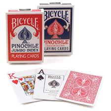 deck pinochle 4 player bicycle pinochle jumbo cards pack of 12