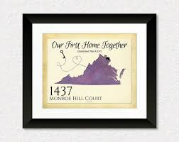 Our First Home Together Quote Custom Housewarming Gift