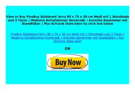 big discount finebuy sideboard jerry 90 x 75 x 30 cm wei