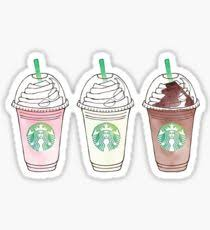 Starbucks Frappuccino Drawing Stickers