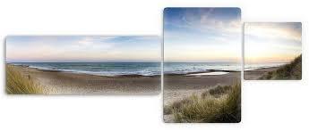 glasbild strandpanorama 3 tlg premium collection by home affaire landhausmöbel zum verlieben kaufen otto