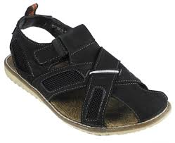 mens nubuck leather closed toe velcro jesus sandals black brown