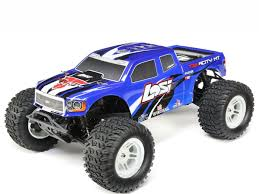 Losi Tenacity Monster Truck, Blue, AVC: 1/10 4WD RTR