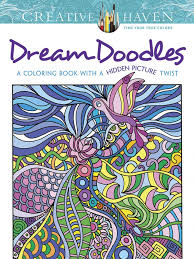 Creative Haven Dream Doodles A Coloring Book With Hidden Picture Twist