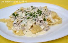 recette land recette de mafaldine sauce gorgonzola parmesan et