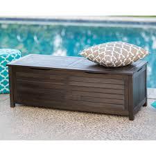 Suncast Resin Deck Box 50 Gallon by Coral Coast Barclay Outdoor Wood 50 Gallon Storage Deck Box Dark