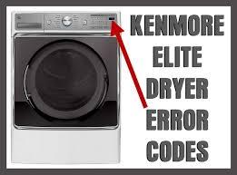 kenmore elite dryer error fault codes removeandreplace