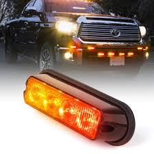 1pc Red And Amber 4W Mount & Grille Strobe Light Head