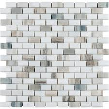 Glazzio Tiles Versailles Series by Ms International Palisandro Mini Brick 12 In X 12 In X 10 Mm