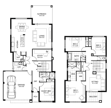 The Two Story Bedroom House Plans by 2 Storey House Floor Plan With Perspective Haynetcreative
