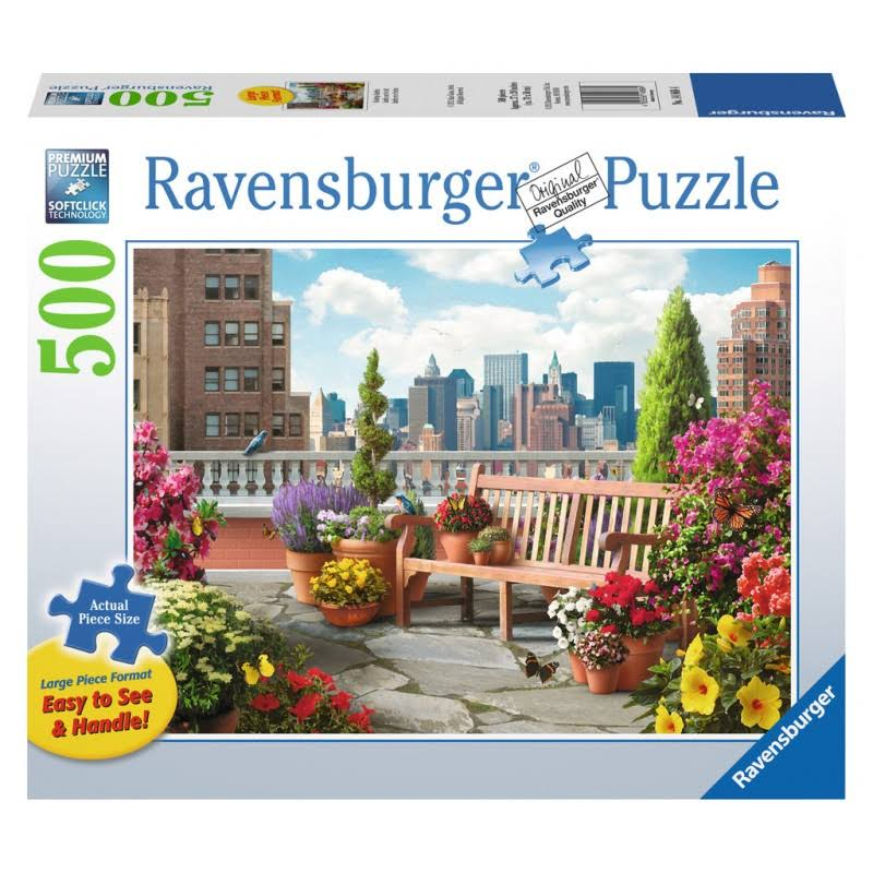 Ravensburger Large Jigsaw Puzzle - Rooftop Garden, 500 Pieces