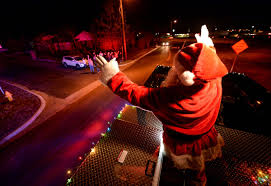 Santa Tours Harker Heights In Style Atop Firetruck | Local ... Parade Of Lights Banff Blog 2 On The Road Christmas Electric Light Parade Fire Truck With Youtube Acvities Santa Mesa Arizona Facebook Montesano Awash Color At Festival Lights The On Firetruck Awesome Mexico Highway Crew Uses Firetruck Ladder To String Photo Gallery Nov 26 2017 112617 Arrow Totowa Residents Gather For Annual Tree Lighting Passaic Valley Musical Ft Sparky Dog Youtube Rensselaer Adventures 2015