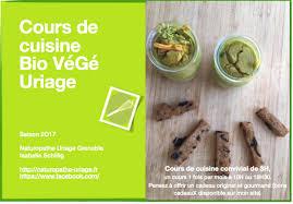 atelier cuisine grenoble cours de cuisine bio végé 2018