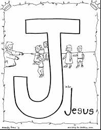Outstanding Coloring Pages Letter For Jesus With Of And