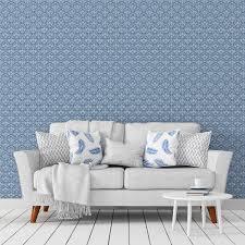 florale ornamenttapete damast muster klassisch in blau design tapete für schlafzimmer
