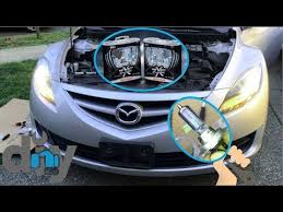 how to replace 2012 mazda 6 headlight bulbs no required