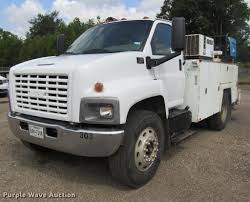 100 Service Truck With Crane For Sale 2007 GMC C6500 Service Truck With Crane Item DC0049 SOLD