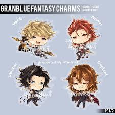 si e l ateur granblue the knights 6cm acrylic charms by 4nimenut