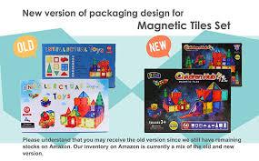 amazon com children hub 60pcs magnetic tiles set premium