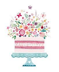Drawn birthday birthday cake 9