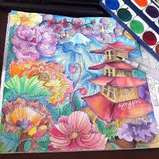 Magic City Adult Coloring Books Fiji Water Colors Colored Pencils Art Ideas Planets Drawings