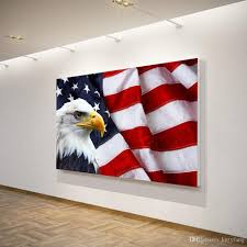 Canvas Art Canvas Painting American Flag Bald Eagle HD Print Wall