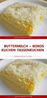 buttermilch kokos kuchen tassenkuchen