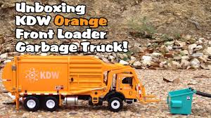 100 Garbage Truck Youtube KDW Orange Front Loader Unboxing L Video For Kids