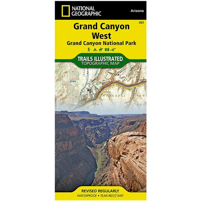 Trails Illustrated Grand Canyon National Park Trail Map - West
